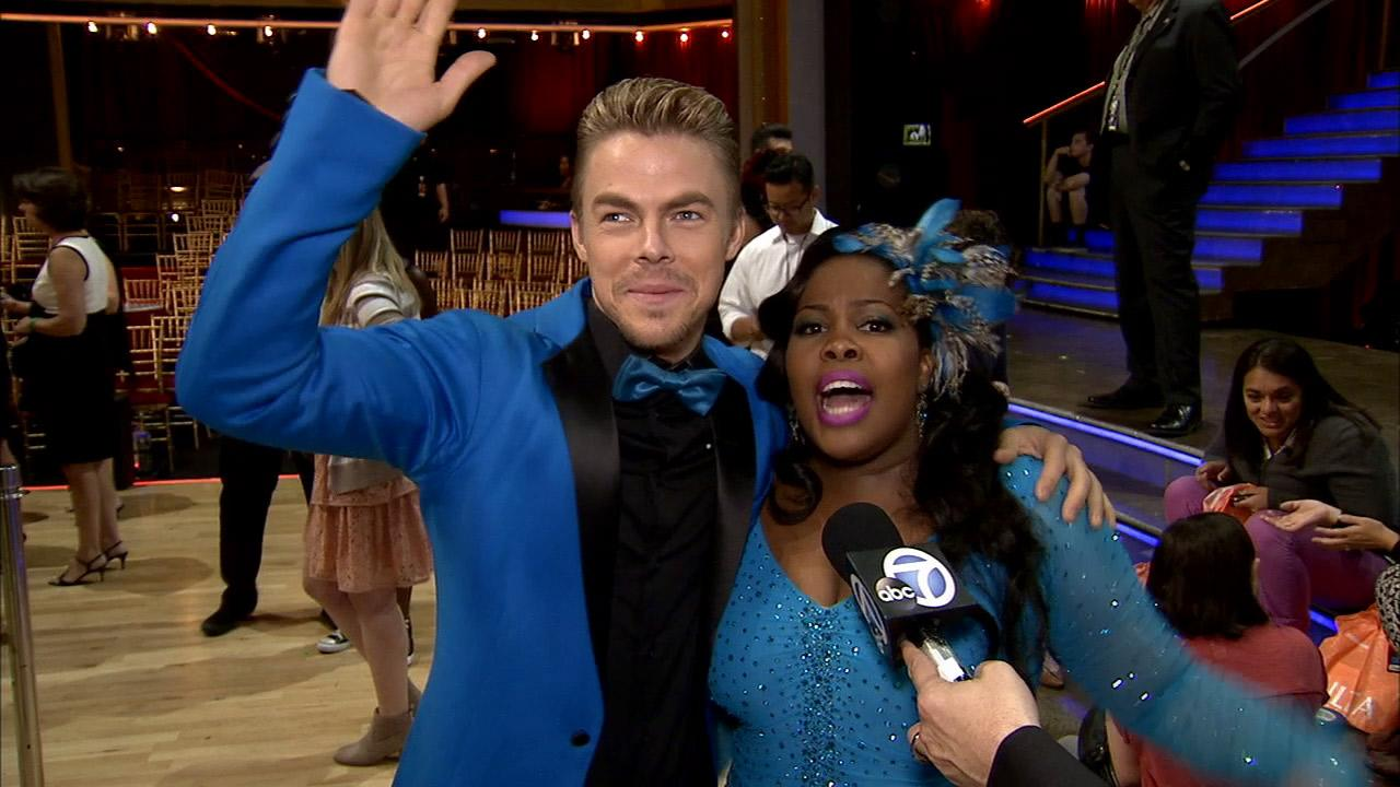 Amber Riley and Derek Hough talk to OTRC.com after week 2 on Dancing With The Stars on Sept. 23, 2013.