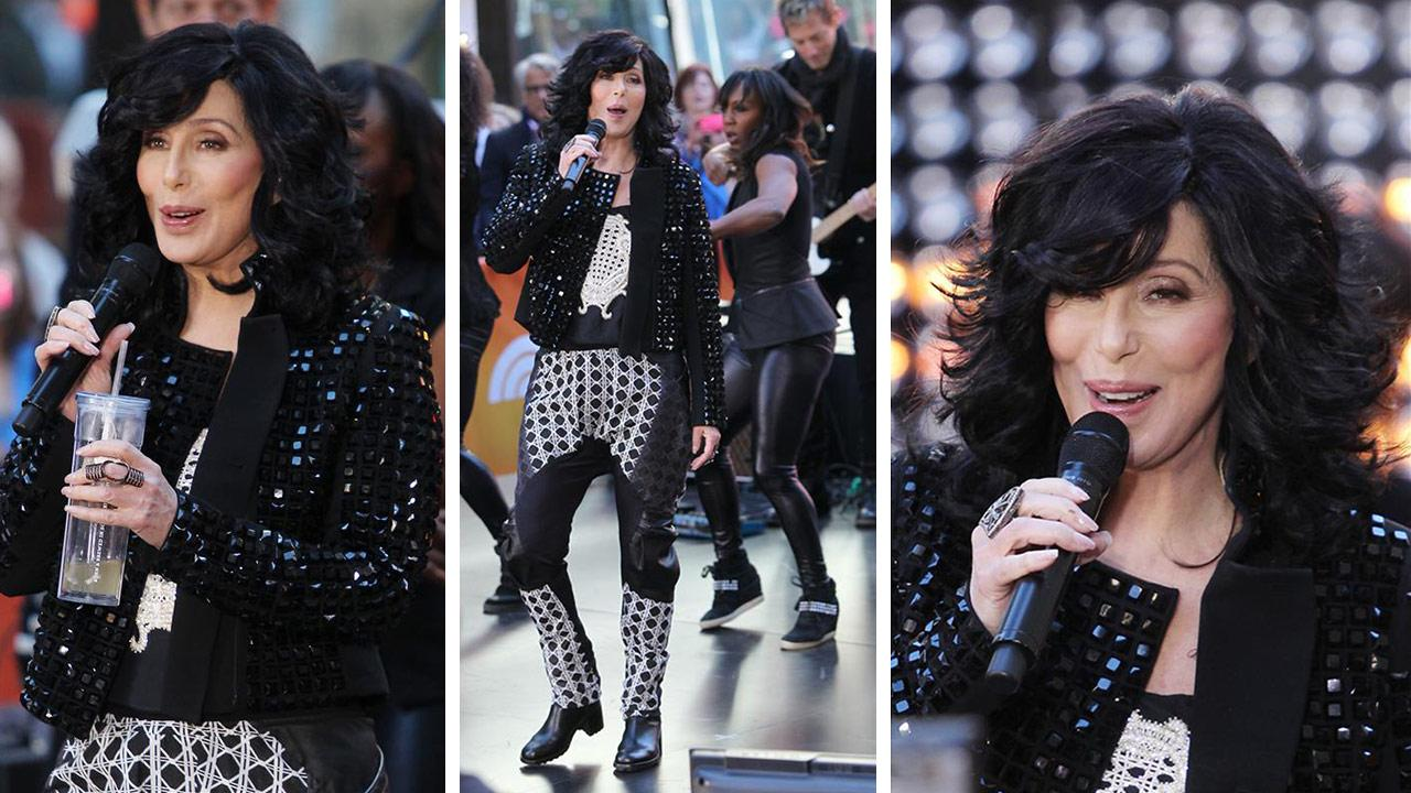 Cher performs on NBCs Today show at Rockefeller Plaza in New York City on Sept. 23, 2013.