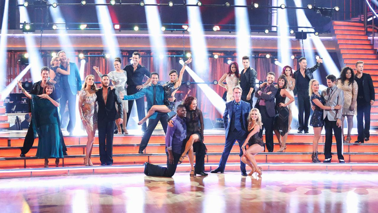 The cast of Dancing With The Stars season 17 appears on the premiere on Sept. 16, 2013.