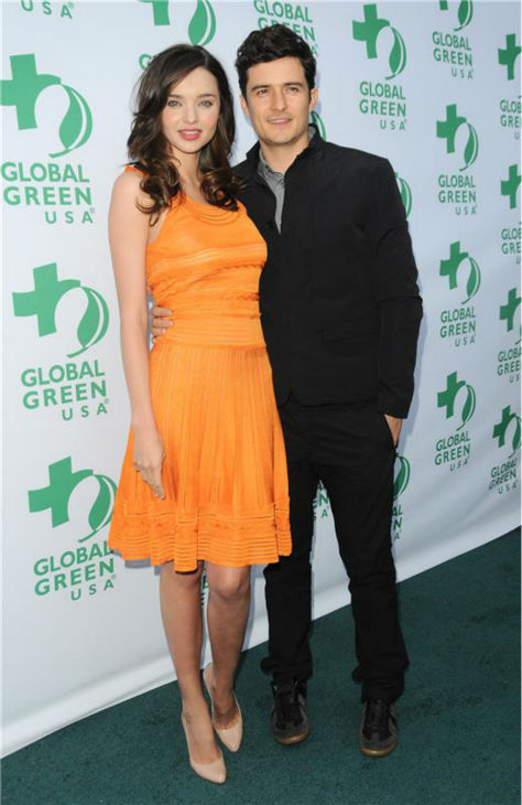Miranda Kerr and Orlando Bloom attend Global Green USA&#39;s 15th annual Millennium Awards in Santa Monica, California on June 4, 2011. <span class=meta>(Sara De Boer &#47; Startraksphoto.com)</span>
