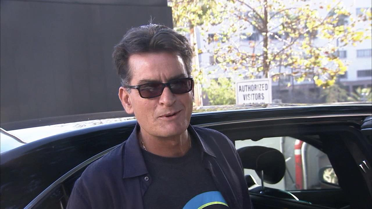 Charlie Sheen reports for jury duty in Los Angeles on Sept. 24, 2013.