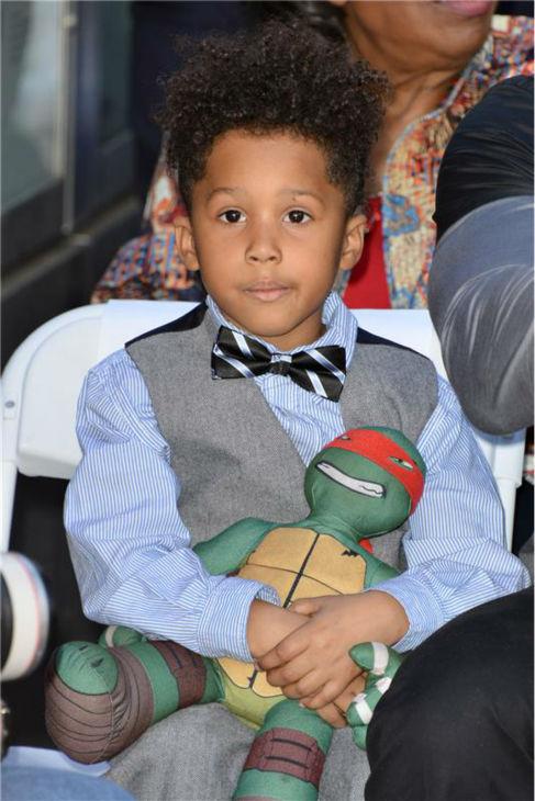 Jennifer Hudson&#39;s 4-year-old son, David Daniel Otunga, Jr., is seen at a ceremony celebrating the unveiling of the Oscar winner and &#39;American Idol&#39; alum&#39;s new star on the Hollywood Walk of Fame on Nov. 13, 2013. <span class=meta>(Tony DiMaio &#47; Startraksphoto.com)</span>
