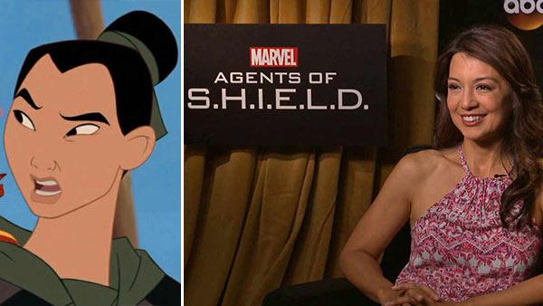 Ming-Na talks to OTRC.com about Marvel's 'Agents of 'S.H.I.E.L.D,' which premieres on Sept. 24, 2013. / A scene from Disney's 1998 movie 'Mulan.')
