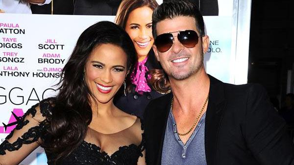 Robin Thicke and wife Paula Patton attended the Los Angeles premiere of Baggage Claim on Sept. 25, 2013. - Provided courtesy of Sara De Boer / Startraksphoto.com