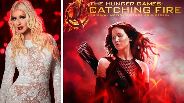 Christina Aguilera appears in a promotional photo for NBCs The Voice dated Aug. 29, 2013. Jennifer Lawrence appears on the official cover art for The Hunger Games: Catahcing Fire soundtrack. - Provided courtesy of Mark Seliger / NBC / Lionsgate / Republic Records