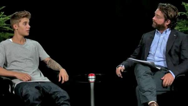 Justin Bieber and Zach Galifianakis appear on Betweeen Two Ferns published on Sept. 26, 2013. - Provided courtesy of FunnyorDie.com