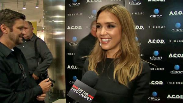 Jessica Alba appears at the premiere of A.C.O.D. on Sept. 26, 2013. - Provided courtesy of OTRC
