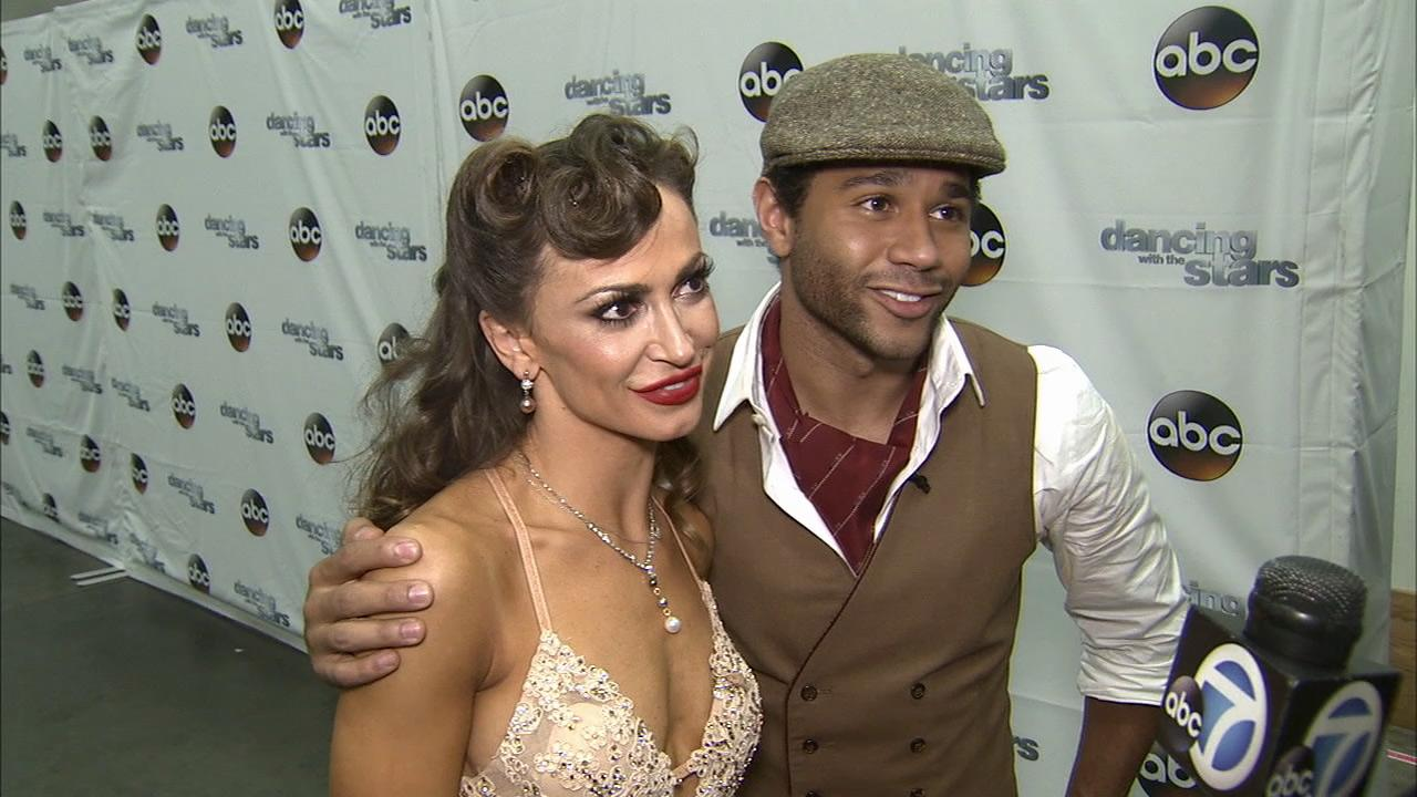 Corbin Bleu and Karina Smirnoff talk to OTRC.com after week 3 on Dancing With The Stars on Sept. 30, 2013.