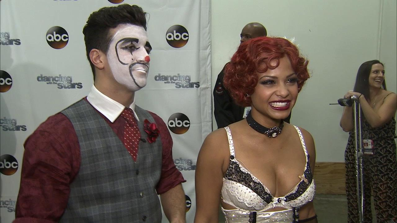 Christina Milian and Mark Ballas talk to OTRC.com after week 3 on Dancing With The Stars on Sept. 30, 2013.