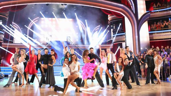 The cast of Dancing With The Stars season 17 appears on the show on Sept. 23, 2013. - Provided courtesy of ABC Photo/ Adam Taylor