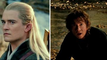 Orlando Bloom appears as Legolas and Martin Freeman appears as Bilbo Baggins in scenes from the 2013 movie The Hobbit: The Desolation of Smaug. - Provided courtesy of Warner Bros. Pictures