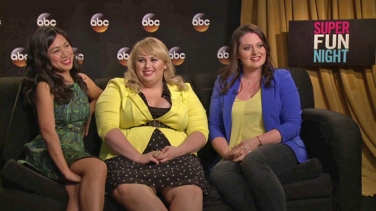 Liza Lapira, Rebel Wilson and Lauren Ash talk to OTRC.com about the ABC comedy series Super Fun Night, premiering on Oct. 2, 2013.