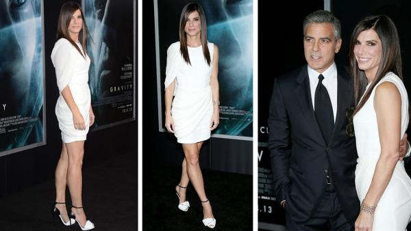 George Clooney and Sandra Bullock appear at the premiere of Gravity at AMC Lincoln Square in New York on Oct. 1, 2013. - Provided courtesy of Marion Curtis / Startraksphoto.com