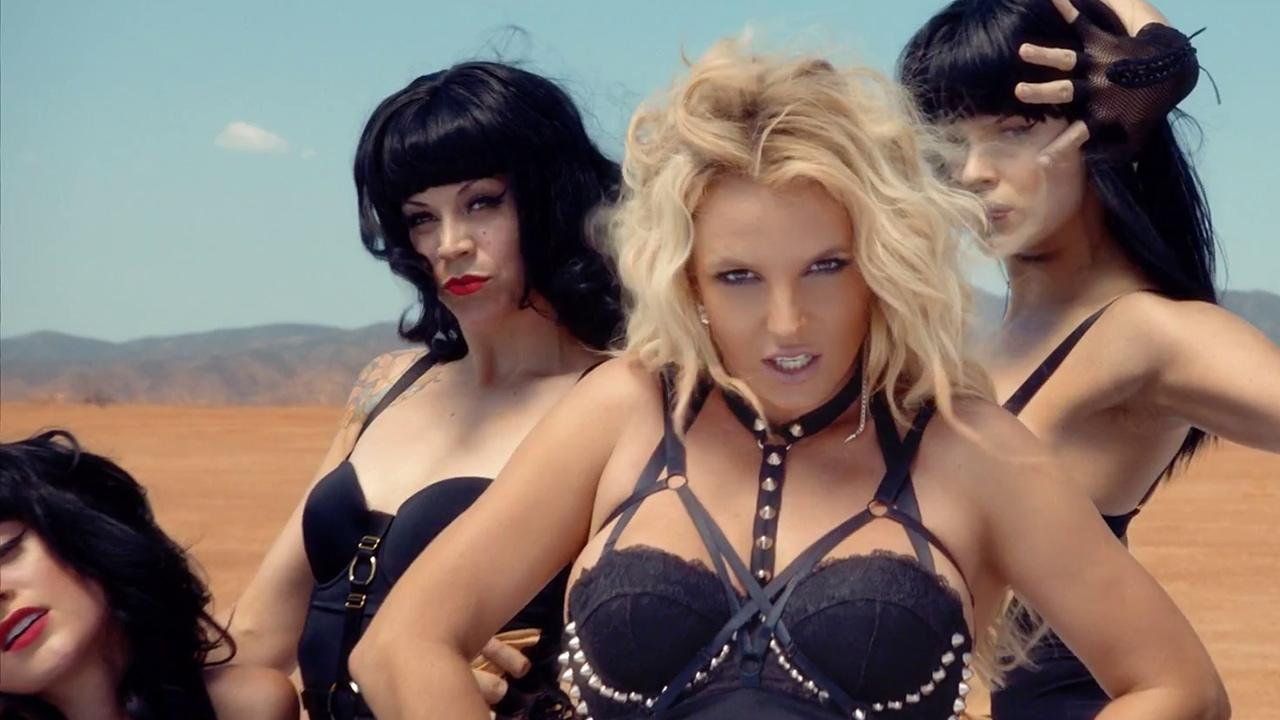 Britney Spears appears in her 2013 music video, Work B----.