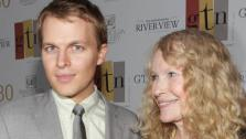 Ronan Farrow and his mother, actress Mia Farrow, appear at the 30 year anniversary of the Greater Talent Network at the United Nations in New York on May 2, 2012. - Provided courtesy of Kelly Jordan/startraksphoto.com