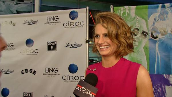 Stana Katic of ABCs Castle talks to OTRC.com at the premiere of the movie CBGB in Los Angeles on Oct. 1, 2013. - Provided courtesy of OTRC