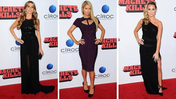 Sofia Vergara, Paris Hilton and Alexa Vega appear at the Machete Kills premiere in Los Angeles, California on Oct. 2, 2013. - Provided courtesy of Sara De Boer /  Startraksphoto.com