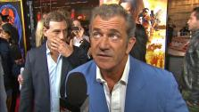 Mel Gibson talks to OTRC.com at the premiere of Machete Kills in Los Angeles on Oct.