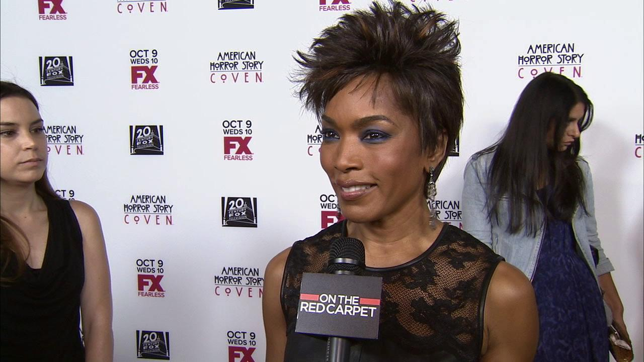 Angela Bassett talks to OTRC.com at American Horror Story: Coven premiere in Los Angeles on Oct. 5, 2013.