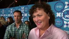 Dot-Marie Jones, who plays Coach Beiste on Glee, talks to OTRC.com at FOXs Eco-Casino party celebrating the Fall 2013 TV season on Sept. 9, 2013. - Provided courtesy of OTRC