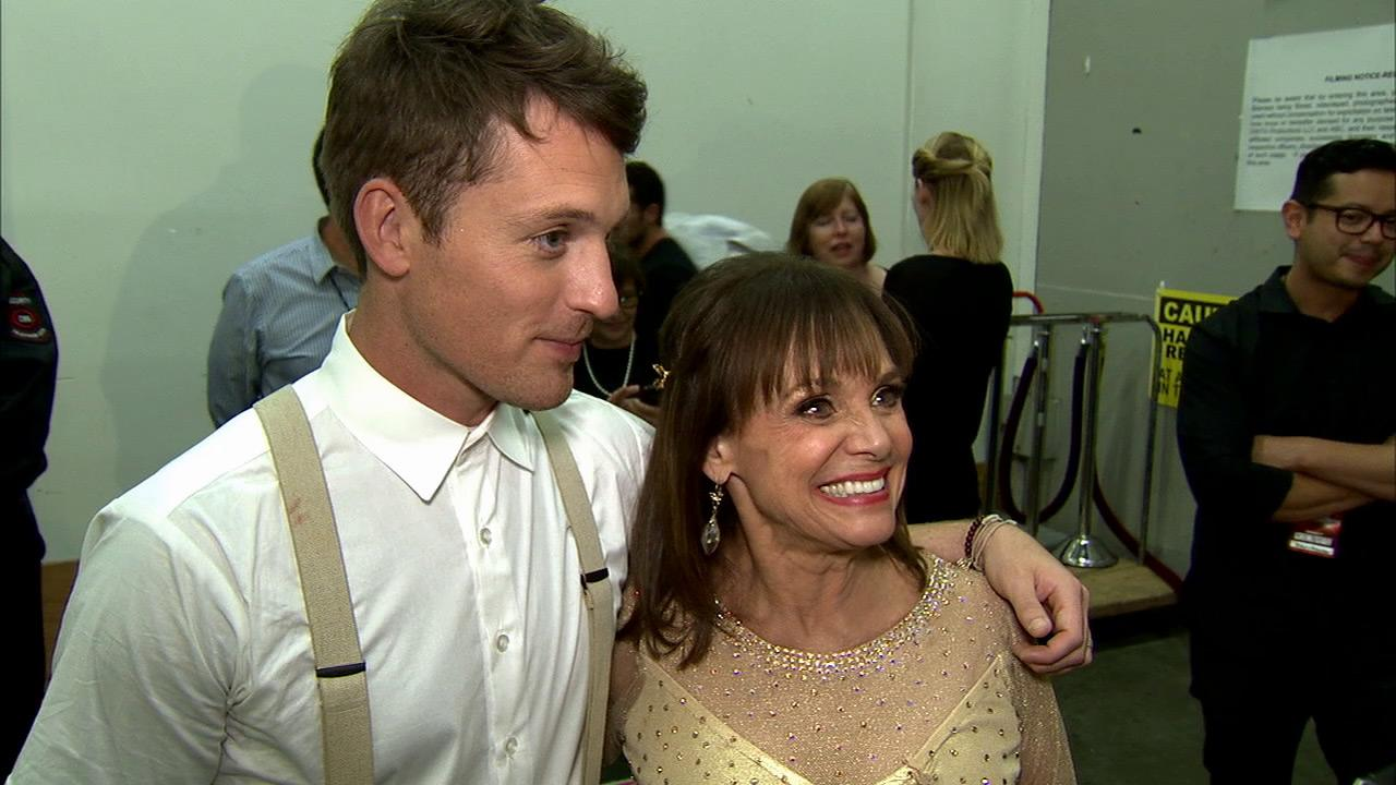 Valerie Harper and Tristan MacManus talk to OTRC.com after week 4 on Dancing With The Stars on Oct. 7, 2013.
