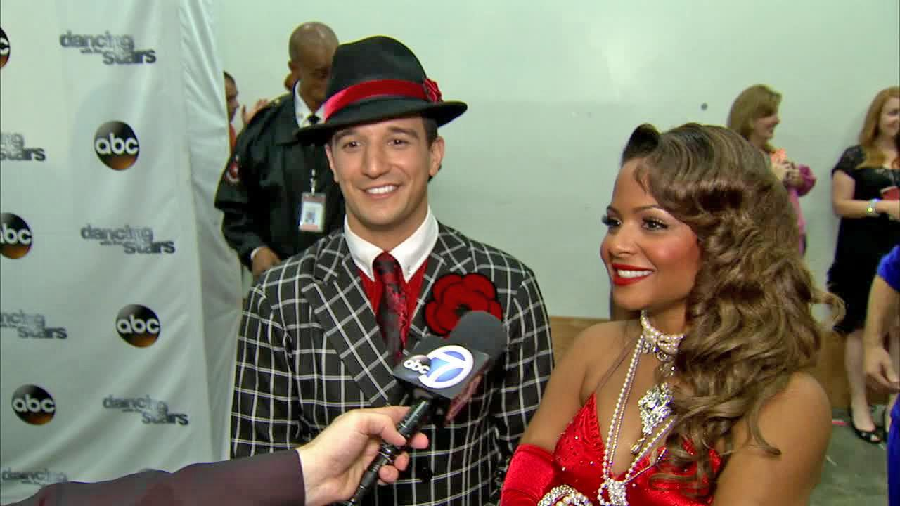 Christina Milian and Mark Ballas talk to OTRC.com after week 4 on Dancing With The Stars on Oct. 7, 2013.