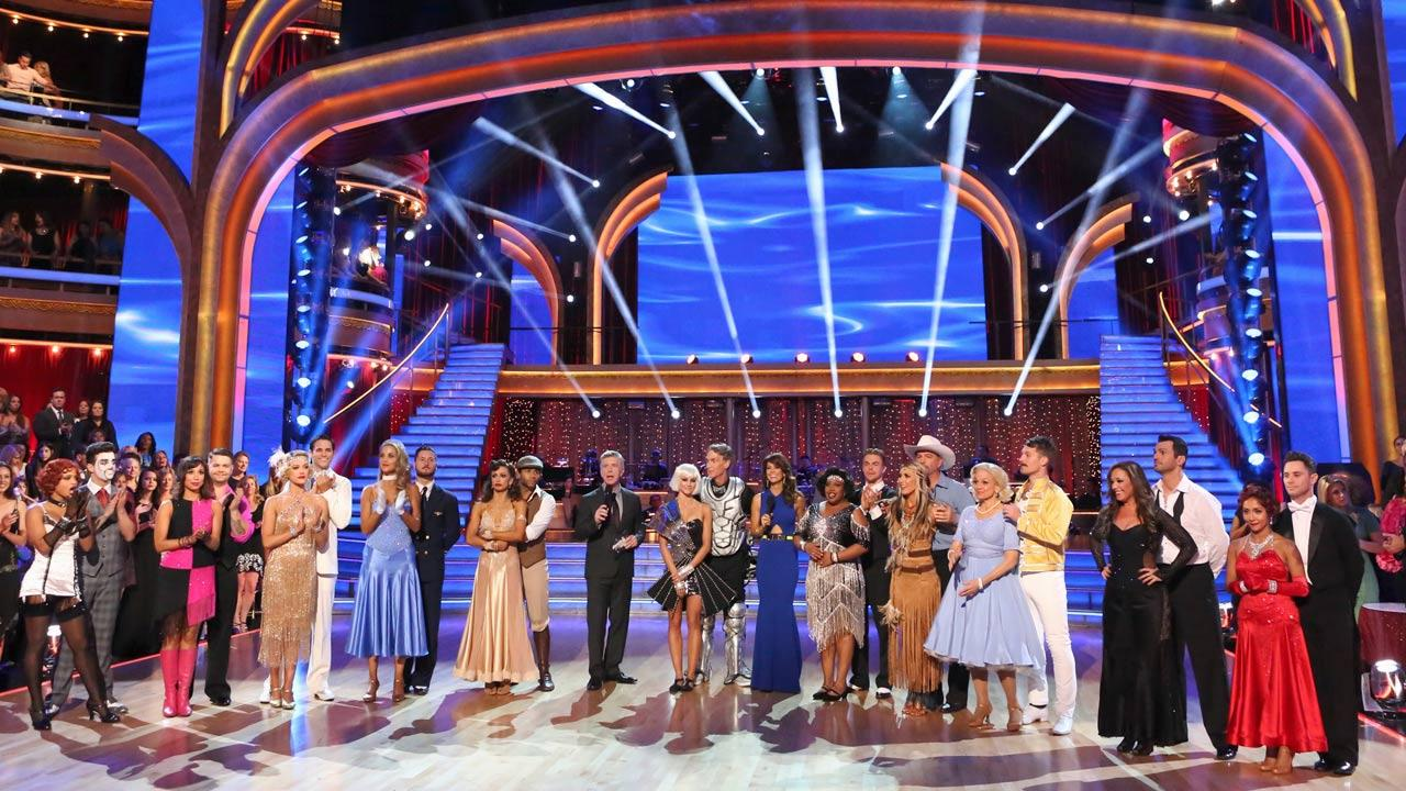 The cast of Dancing With The Stars season 17 appears on the show on Sept. 30, 2013.