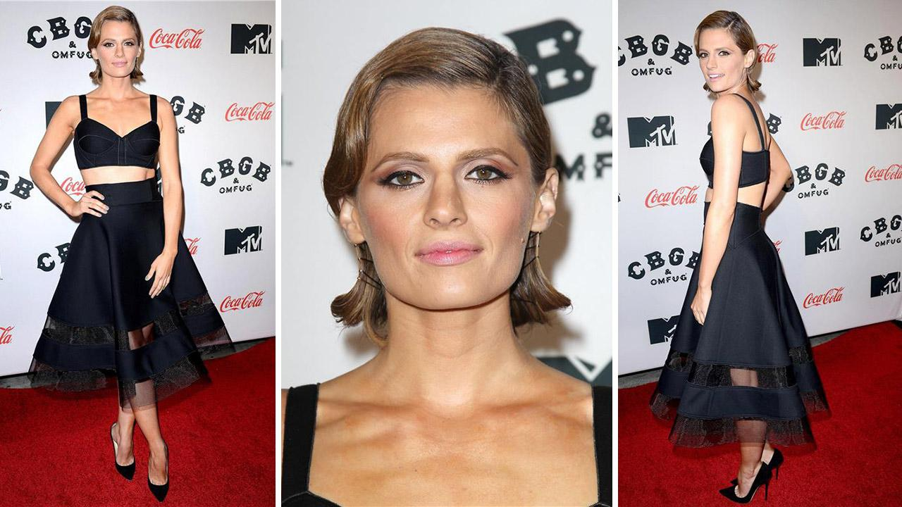 Castle actress and cast member Stana Katic attends the CBGB premiere at the 2013 CBGB Music and Film Festival in New York on Oct. 8, 2013.