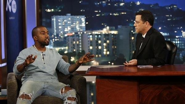 Kanye West appears on Jimmy Kimmel Live! on Oct. 9, 2013. - Provided courtesy of Randy Holmes / ABC