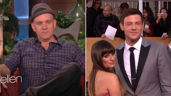 Cory Monteith and Glee co-star and girlfriend Lea Michele attend the SAG Awards on Jan. 27, 2013. - Provided courtesy of The Ellen DeGeneres Show / OTRC