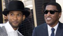Usher appears with Kenny Babyface Edmonds, who received a star on the Hollywood Walk of Fame on Oct. 10, 2013.