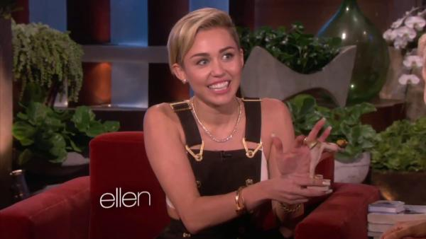 Miley Cyrus appears on The Ellen DeGeneres Show with a doll made in her likeness on Oct. 11, 2013. She discussed her breakup with ex-fiance Liam Hemsworth, being alone and her new album, Bangerz. - Provided courtesy of Warner Bros. Television