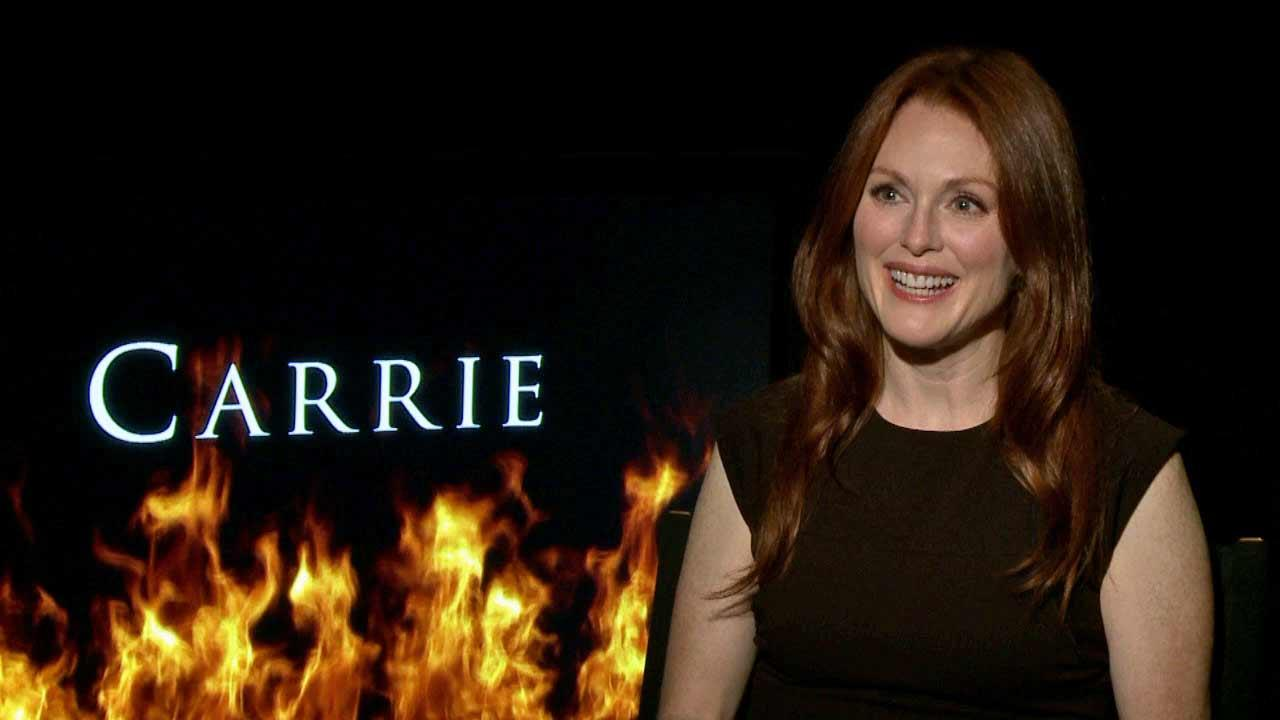 Julianne Moore spoke to OTRC.com about Carrie, in theaters Oct. 18, 2013.