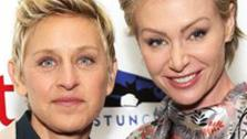 Ellen DeGeneres and wife Portia De Rossi appear at the Saving SPOT! benefit at the Thompson Beverly Hills hotel in California on Oct. 13, 2013. - Provided courtesy of Sara Jaye Weiss / Startraksphoto.com