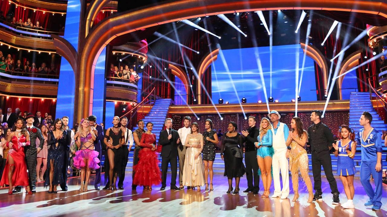 The cast of Dancing With The Stars season 17 appears on the show on Oct. 7, 2013.