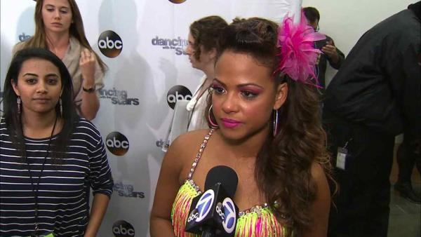Christina Milian talks to OTRC.com after week 5 on 'Dancing With The Stars' on Oct. 14, 2013.