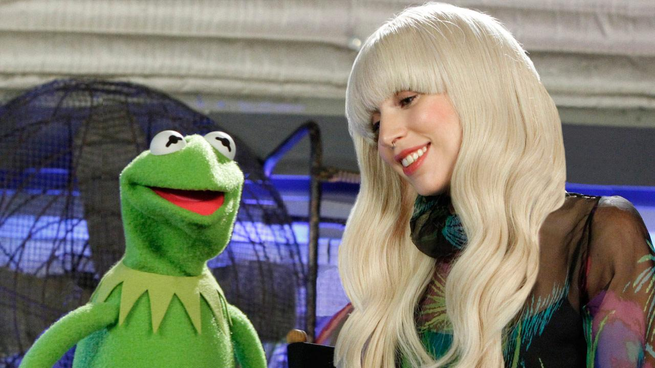 Lady Gaga and Kermit the Frog appear in an undated promotional photo for Lady Gaga and the Muppets Holiday Spectacular, set to air on Nov. 28, 2013.