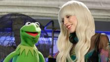 Lady Gaga and Kermit the Frog appear in an undated promotional photo for Lady Gaga and the Muppets Holiday Spectacular, set to air on Nov. 28, 2013. - Provided courtesy of ABC/ Rick Rowell