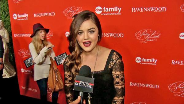 Lucy Hale, who plays Aria Montgomery on Pretty Little Liars, talks to OTRC.com at the ABC Family shows season 4 Halloween episode premiere at the Hollywood Forever Cemetery in Los Angeles on Oct. 15, 2013. - Provided courtesy of OTRC