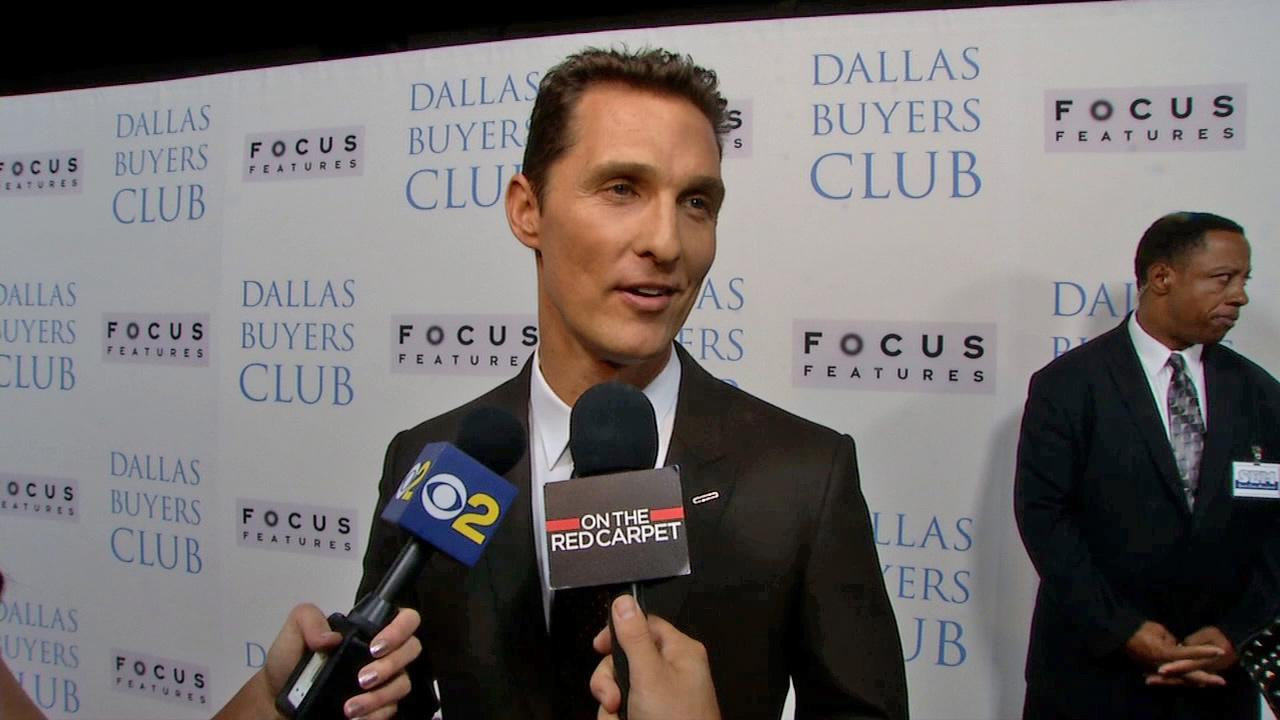 Matthew McConaughey attends the premiere of Dallas Buyers Club in Los Angeles on Oct. 17, 2013.