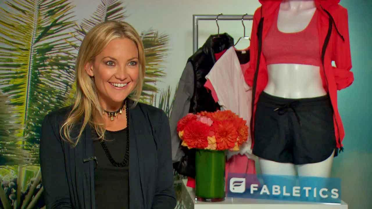 Kate Hudson sat down with OTRC.com to promote her new fitness apparel line Fabletics in October 2013.