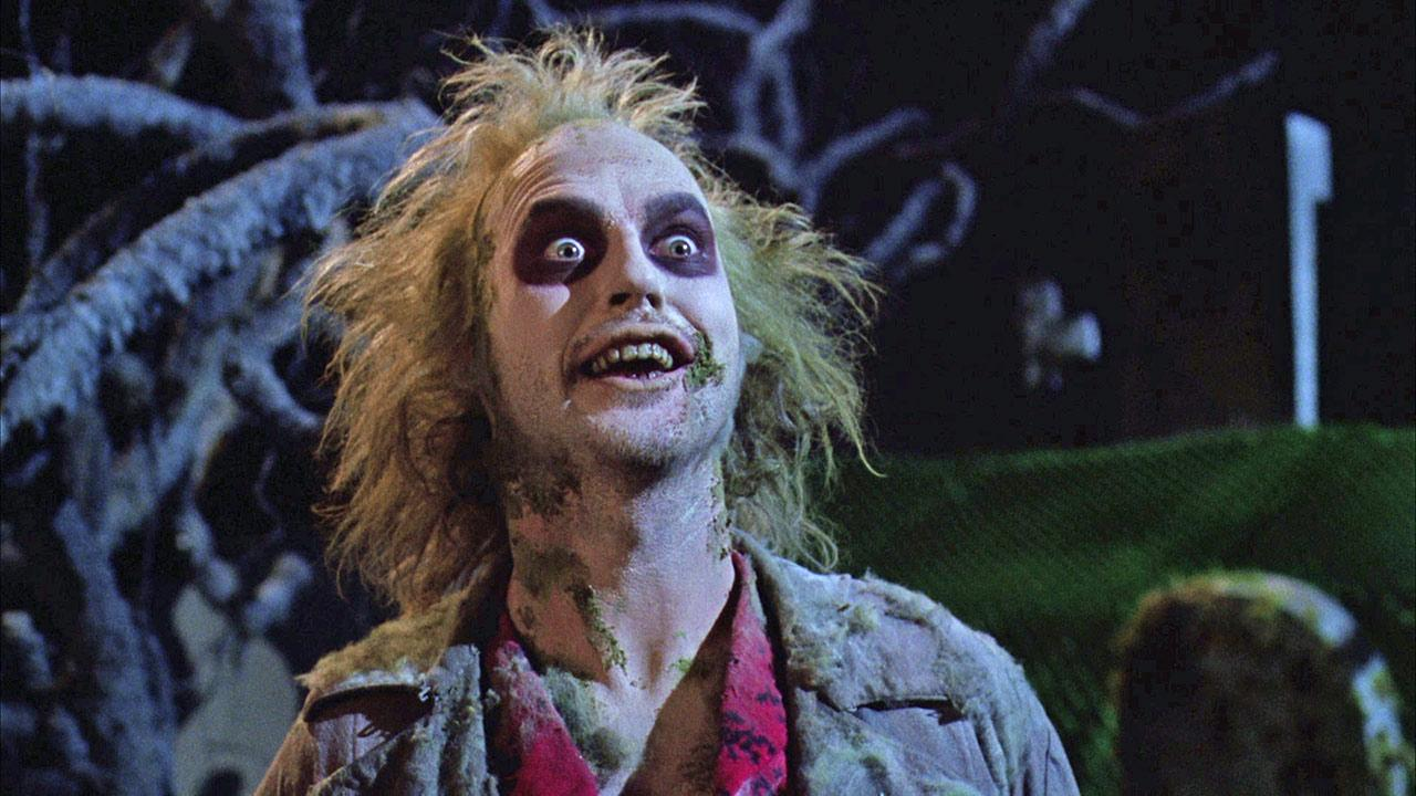 Michael Keaton appears as Beetlejuice in a scene from the 1988 movie Beetlejuice.