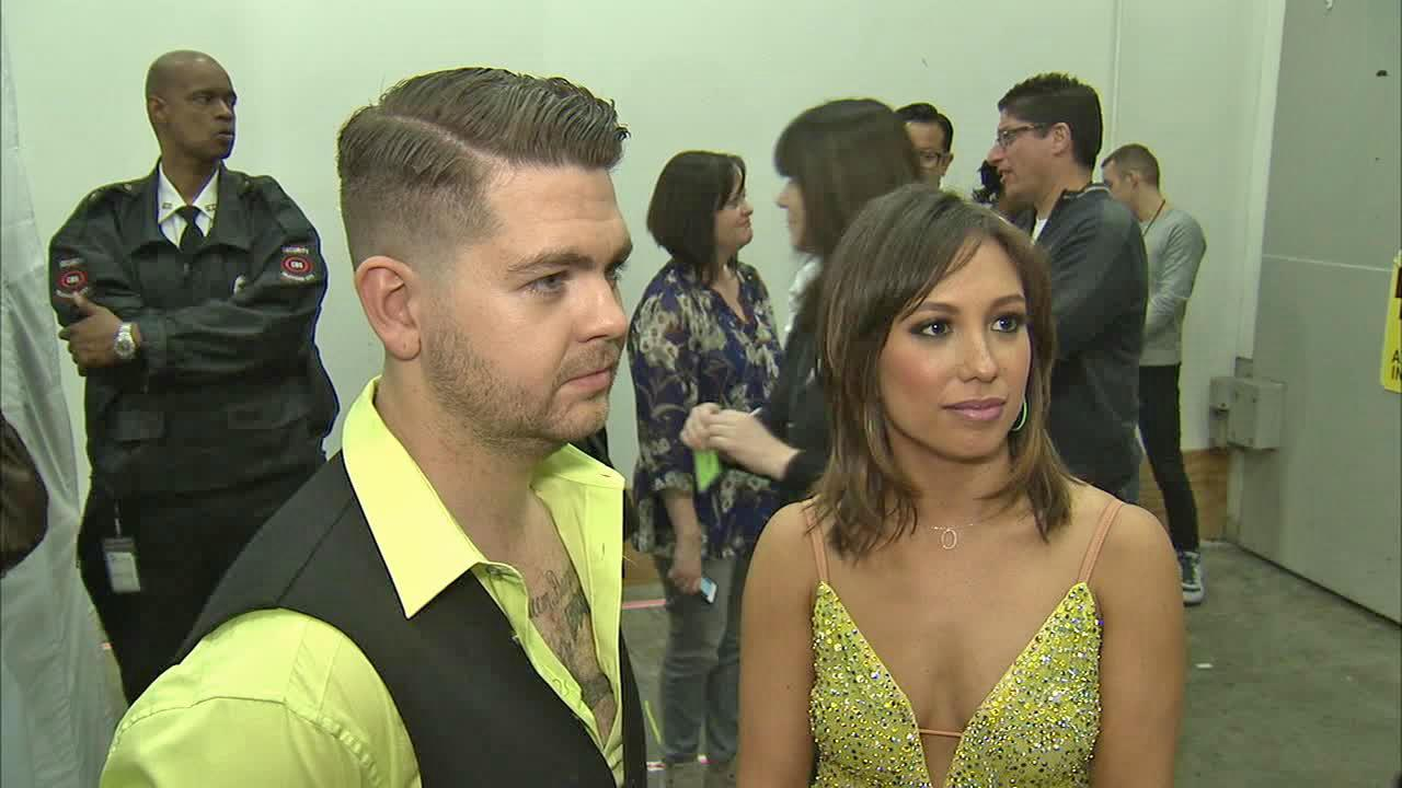 Jack Osbourne and Cheryl Burke talk to OTRC.com after week 6 on Dancing With The Stars on Oct. 21, 2013.