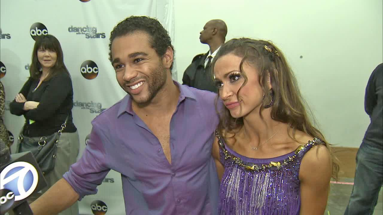 Corbin Bleu and Karina Smirnoff talk to OTRC.com after week 6 on Dancing With The Stars on Oct. 21, 2013.