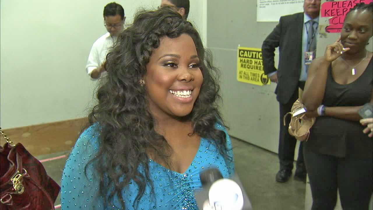 Amber Riley talks to OTRC.com after week 6 on Dancing With The Stars on Oct. 21, 2013.