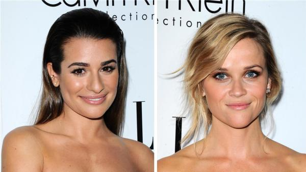 Lea Michele of Glee and Reese Witherspoon attend ELLEs 20th Annual Women In Hollywood gala in Beverly Hills, California on Oct. 21, 2013. - Provided courtesy of Sara De Boer / Startraksphoto.com