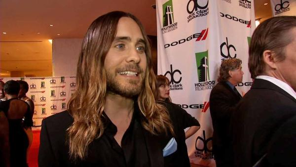 Jared Leto spoke to OTRC.com at the 17th annual Hollywood Film Awards on Oct. 21, 2013. - Provided courtesy of OTRC
