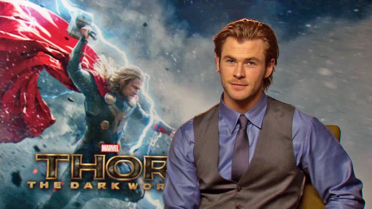 Chris Hemsworth appears in an interview with OTRC.com for Thor: The Dark World on Oct. 19, 2013.