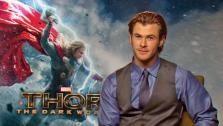 Chris Hemsworth appears in an interview with OTRC.com for Thor: The Dark World on Oct. 19, 2013. - Provided courtesy of OTRC