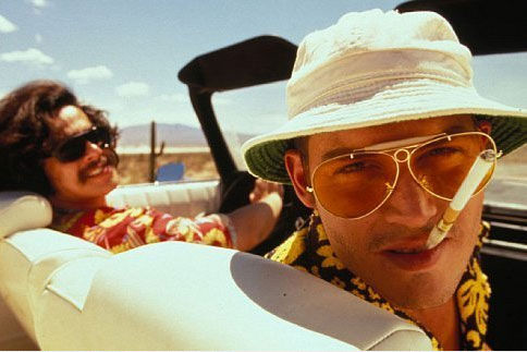 Johnny Depp and Benicio Del Toro appear in a still from 'Fear and Loathing in Las Vegas.'